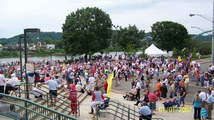 We the People rally at the River